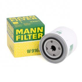 Filtre à huile MANN-FILTER Art.No - W 916/1 OEM: 0003897991 pour VOLKSWAGEN, AUDI, SEAT, VOLVO, SKODA récuperer