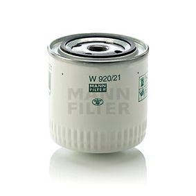 MANN-FILTER W 920/21 Filtre à huile OEM - 210101012005 LADA, GAZ, NPS, SAMPA à bon prix