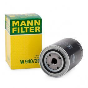 83064 για VW, Φίλτρο λαδιού MANN-FILTER (W 940/20) Ηλεκτρονικό κατάστημ