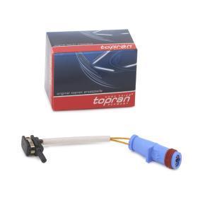 Sensor, Bremsbelagverschleiß TOPRAN Art.No - 408 589 OEM: 1695401617 für MERCEDES-BENZ kaufen