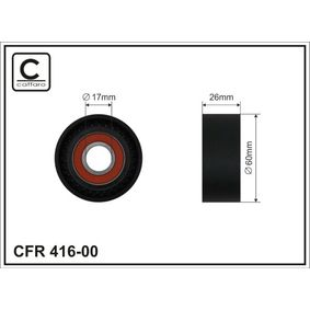 CAFFARO PEUGEOT 206 Tensioner pulley, v-ribbed belt (416-00)