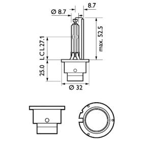 42402XV2S1 Glühlampe, Fernscheinwerfer von PHILIPS Qualitäts Ersatzteile