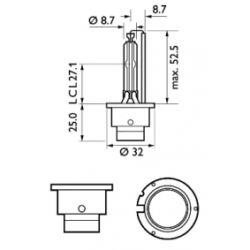 42402XV2S1 Bulb, spotlight from PHILIPS quality parts