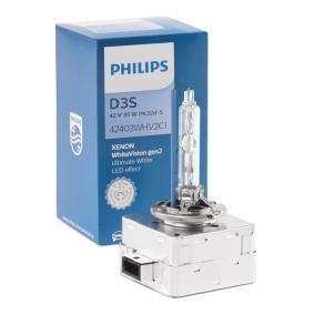 42403WHV2C1 Крушка с нагреваема жичка, фар за дълги светлини от PHILIPS качествени части