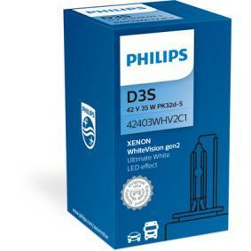 PHILIPS Крушка с нагреваема жичка, фар за дълги светлини (42403WHV2C1) на ниска цена