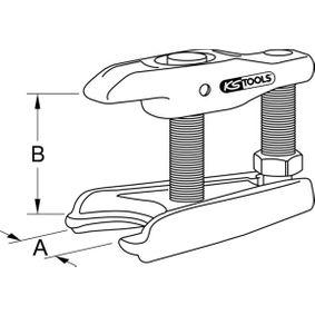 450.0070 Schuiver, kogelscharnier van KS TOOLS gereedschappen van kwaliteit