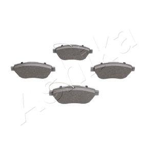 Bremsbelagsatz, Scheibenbremse ASHIKA Art.No - 50-00-0061 OEM: 77362712 für FIAT, PEUGEOT, VOLVO, ALFA ROMEO, LANCIA kaufen