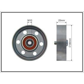 CAFFARO TOYOTA RAV 4 Tensioner pulley, v-ribbed belt (500048)