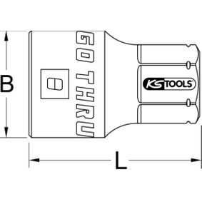 503.4980 Piezas insertables de llave de cubo de KS TOOLS herramientas de calidad
