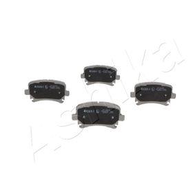 Bremsbelagsatz, Scheibenbremse ASHIKA Art.No - 51-00-00007 OEM: 1K0698451D für VW, AUDI, FORD, SKODA, SEAT kaufen