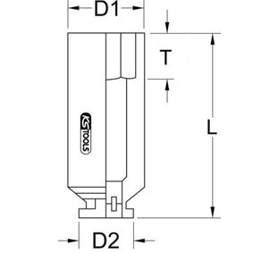 Kracht, dopsleutel 515.1855 KS TOOLS