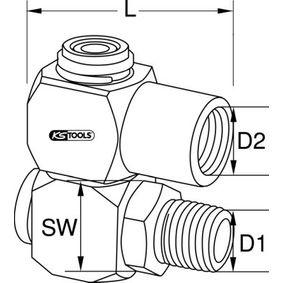 515.3396 Verbinder, Druckluftleitung von KS TOOLS Qualitäts Werkzeuge