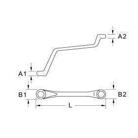 KS TOOLS Doppel-Ringschlüssel, Entlüfterschraube / -ventil (518.0309) niedriger Preis