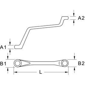 KS TOOLS Doppel-Ringschlüssel, Entlüfterschraube / -ventil 518.0311 Online Shop