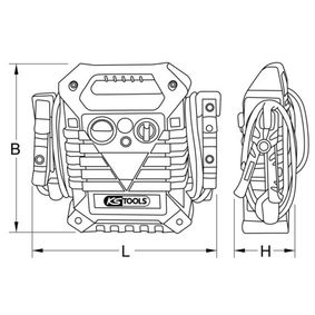 Batería, aparato auxiliar de arranque KS TOOLS en calidad original
