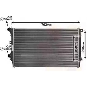 VAN WEZEL Воден радиатор / единични части 58012206