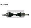 CLASSE M (W164) Arbre de transmission | SKF VKJC 1893