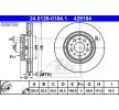 Jarrulevy varten VOLVO V70 II (SW) | ATE Tuotekoodi 24.0128-0184.1