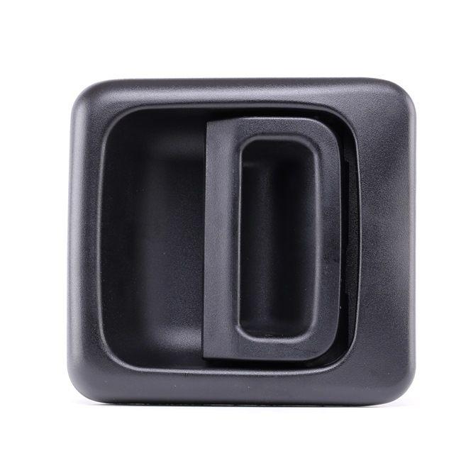 FAST Deurklink PEUGEOT Buiten, rechts, Zwart, zonder slot, Zonder sluitcilinder