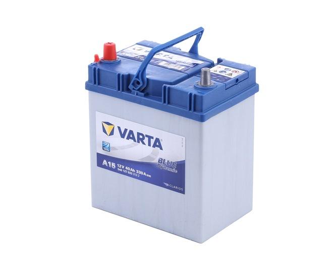 VARTA BLUE dynamic B00 , 40 Ah , 12 V , B19 , 330 A , Bleiakkumulator 5401270333132