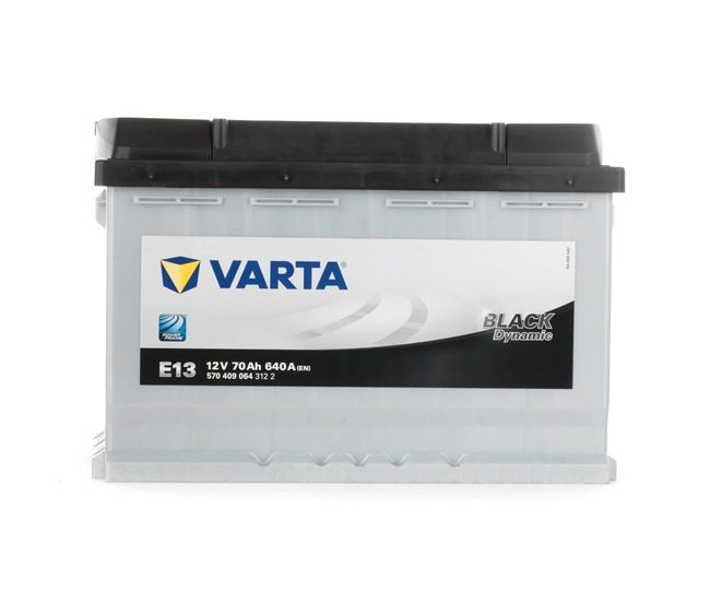 VARTA Starterbatterie B13 , 70 Ah , 12 V , L3 , 640 A , Bleiakkumulator