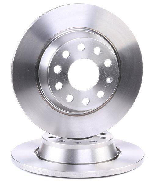 Bremsscheibe Bremsscheibendicke: 12mm, Lochanzahl: 5, Ø: 282mm mit OEM-Nummer 1K0 615 601 AD