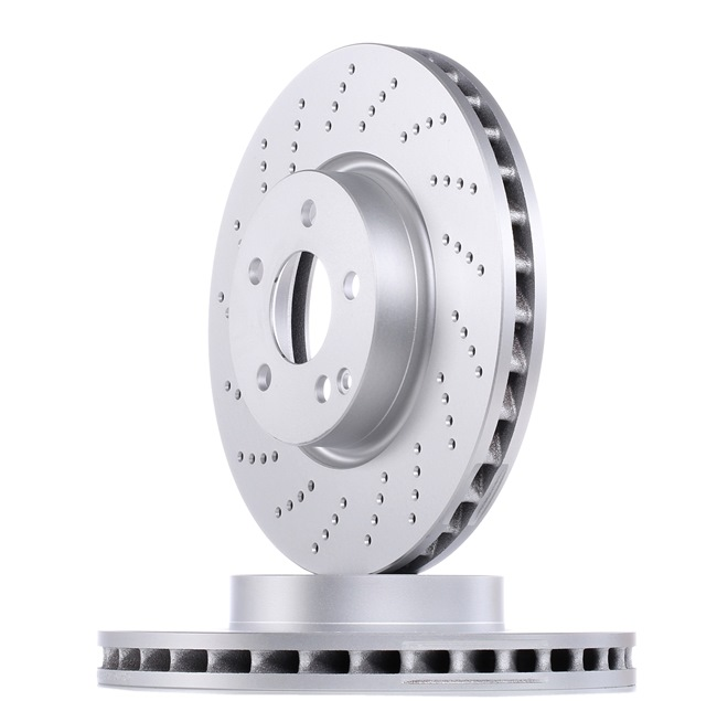 Brake discs and rotors BOSCH E190R02C06820709 Perforated, Vented, Coated, Alloyed / High-carbon, with screws