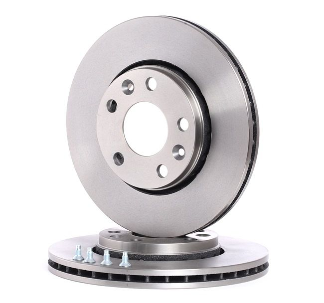 BOSCH Brake rotors NISSAN Vented, Oiled, High-carbon, with screws