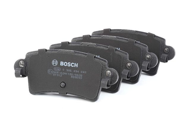 BOSCH mit akustischer Verschleißwarnung, mit Anti-Quietsch-Blech, mit Montageanleitung 0986494043