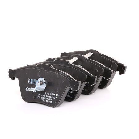 Bremsbelagsatz, Scheibenbremse Breite 1: 155,3mm, Breite 2: 156,5mm, Höhe: 72,9mm, Dicke/Stärke: 20mm mit OEM-Nummer 1K0698151B