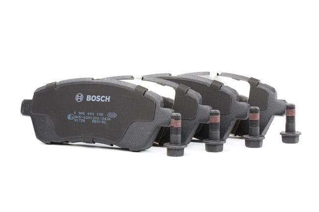 Disk brake pads BOSCH 24283 with anti-squeak plate, with screws, with accessories