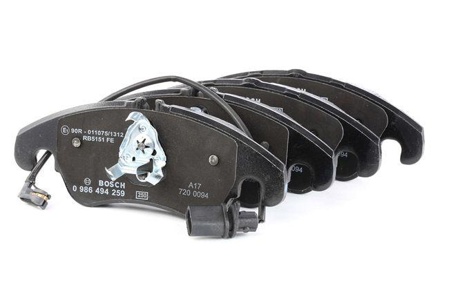 Bremsbelagsatz, Scheibenbremse Breite: 188,1mm, Höhe 2: 73,5mm, Höhe: 72,9mm, Dicke/Stärke: 18,4mm mit OEM-Nummer 1 567 730