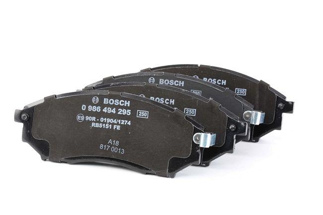 Bremseklosser BOSCH 7766D888 med akustisk slitasjevarsel, med antihyle blikk