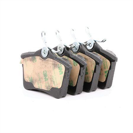 Bremsbelagsatz, Scheibenbremse Breite: 87,5mm, Höhe: 53,1mm, Dicke/Stärke: 15mm mit OEM-Nummer 3C0698451B