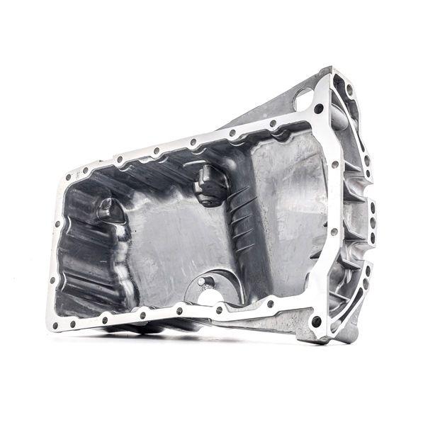 RIDEX Cárter del motor con tornillo purga aceite, Aluminio, con junta anular, con taladro para sensor de nivel de aceite, sin junta de cárter de aceite