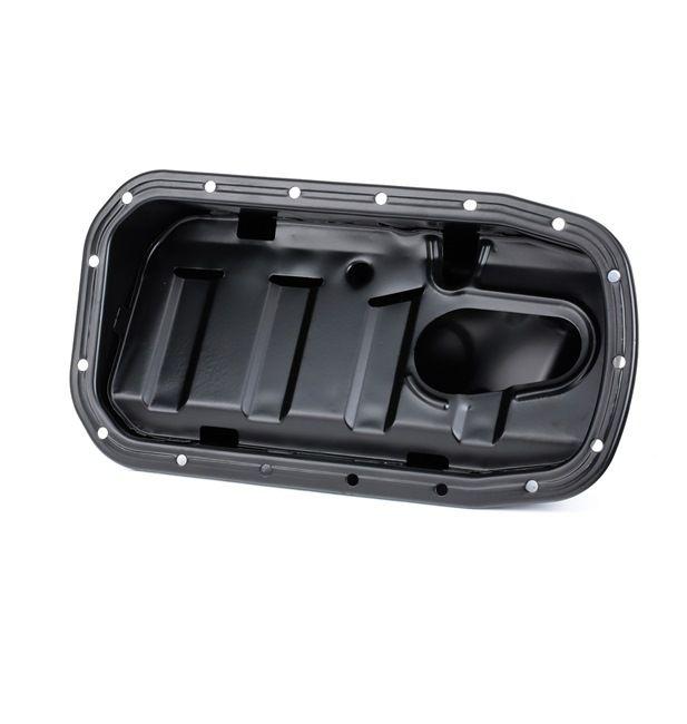 RIDEX Cárter del motor con tornillo purga aceite, Chapa de acero, con protección contra salpicaduras, sin junta anular, sin junta de cárter de aceite