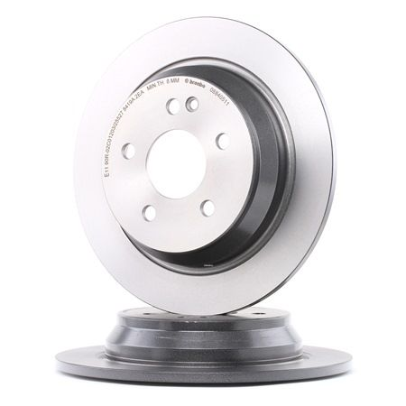 Frenos de disco BREMBO 12812193 Macizo, revestido, altamente carbonizado, con tornillos