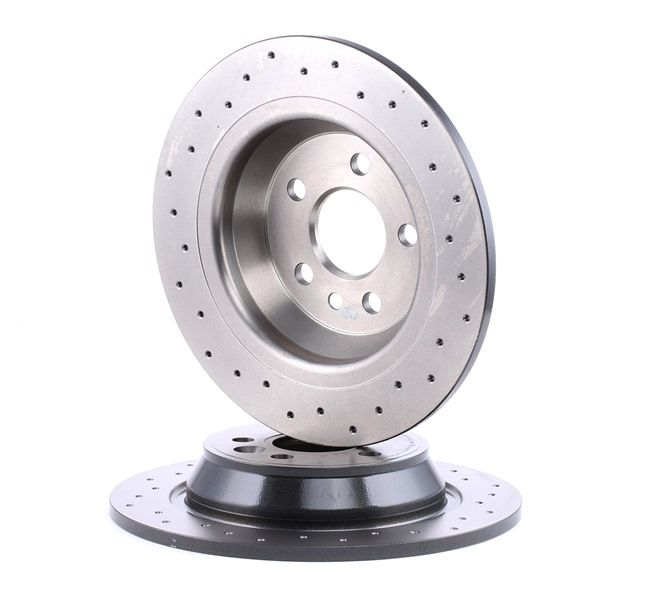 Brake discs and rotors BREMBO 12812200 Perforated, Solid, Coated