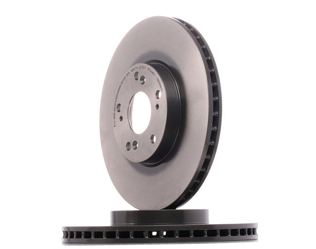 Brake discs and rotors BREMBO 12812230 Internally Vented, Coated, with screws
