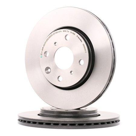BREMBO COATED DISC LINE Brake rotors PEUGEOT Internally Vented, Coated