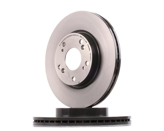 BREMBO COATED DISC LINE Innenbelüftet, beschichtet, mit Schrauben 09A45511