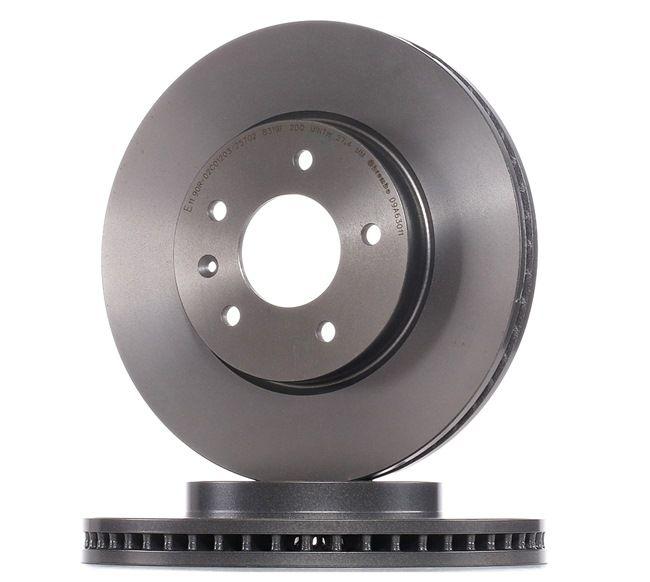 BREMBO COATED DISC LINE Innenbelüftet, beschichtet, hochgekohlt 09A63011