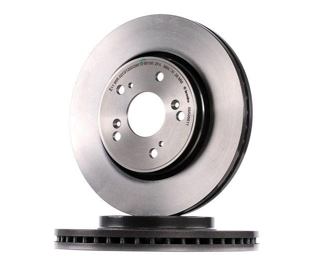 Frenos de disco BREMBO 12812251 Ventilación interna, revestido, con tornillos