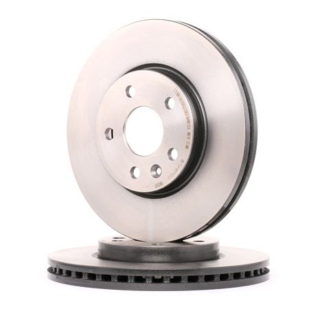 BREMBO COATED DISC LINE Brake rotors OPEL Internally Vented, Coated, with screws