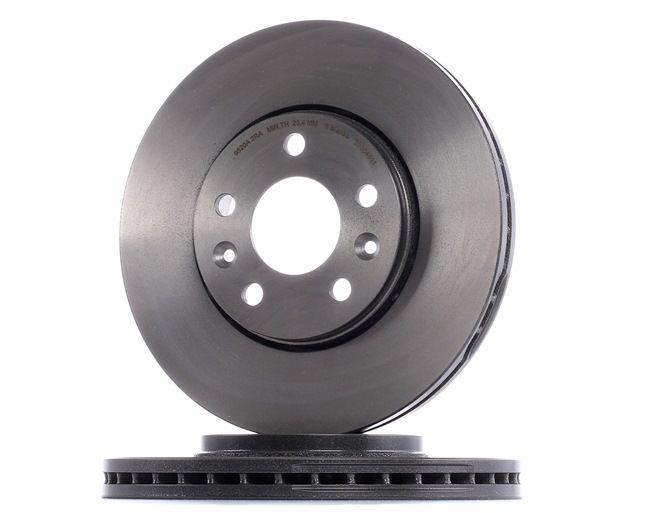 BREMBO COATED DISC LINE Innenbelüftet, beschichtet, hochgekohlt, mit Schrauben 09C64611