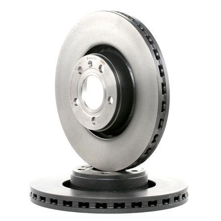 BREMBO COATED DISC LINE Disc frana ventilat interior, acoperit (cu un strat protector), continut ridicat de carbon, cu suruburi