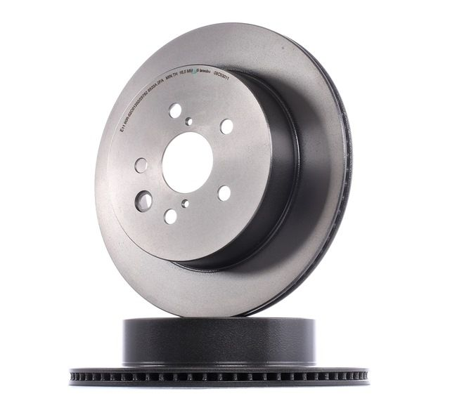 Brake discs and rotors BREMBO 12812303 Internally Vented, Coated