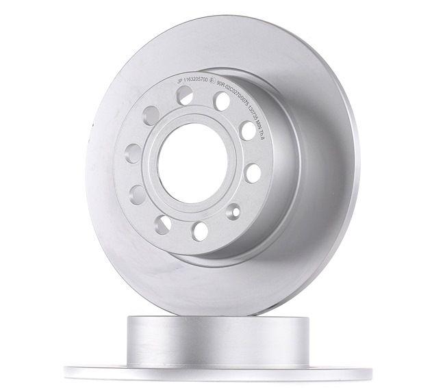 Bremsscheibe Bremsscheibendicke: 10mm, Lochanzahl: 5, Ø: 255mm mit OEM-Nummer 1K0 615 601AB