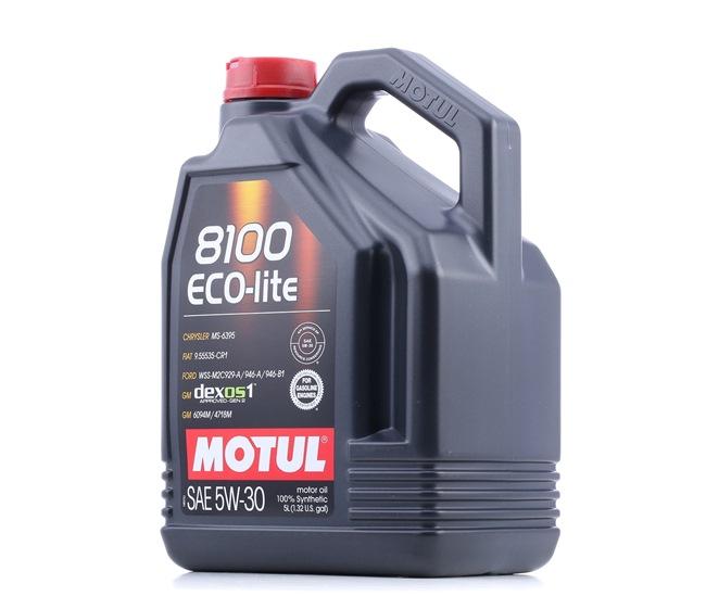 MOTUL Двигателно масло DEXOS 1 GEN 2 5W-30, съдържание: 5литър, Синтетично масло