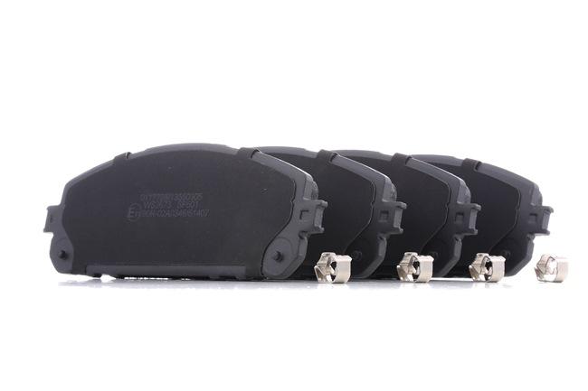 Bremsbelagsatz, Scheibenbremse Breite 1: 167,0mm, Höhe 1: 62,0mm, Dicke/Stärke 1: 17,5mm mit OEM-Nummer 68212 327AB